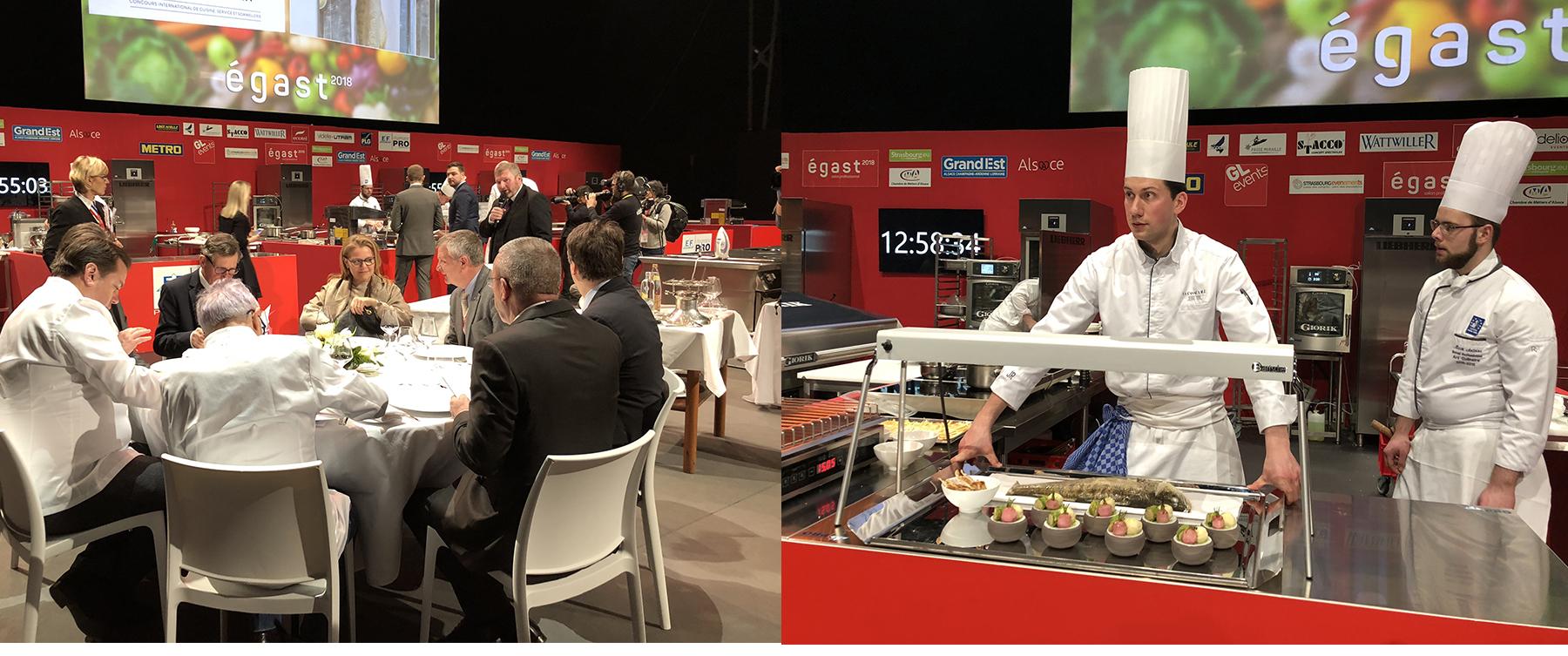 Le jury du Trophée des Frères Haeberlin en plein dégustation et délibération