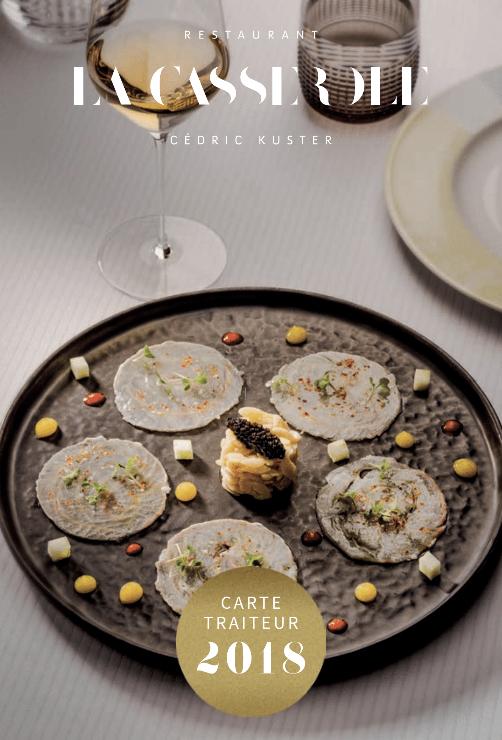 Première page de la brochure traiteur La Casserole