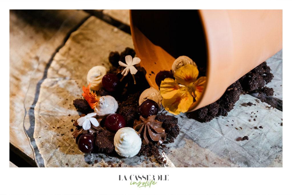 Dessert du diner insolite La Casserole