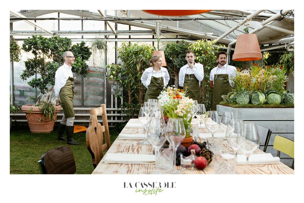L'équipe du restaurant La Casserole qui se prépare pour le service